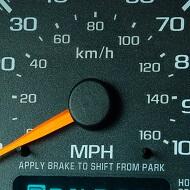 Cuentakilómetros de un camión
